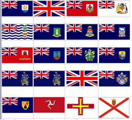 Flags of the UK Overseas Territories and Crown Dependencies