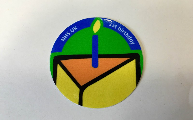 1st Birthday Sticker