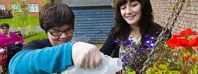 Learning difficulties gardening