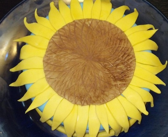 Turing's Sunflowers Cake