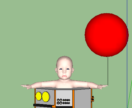 Graphic of giant baby