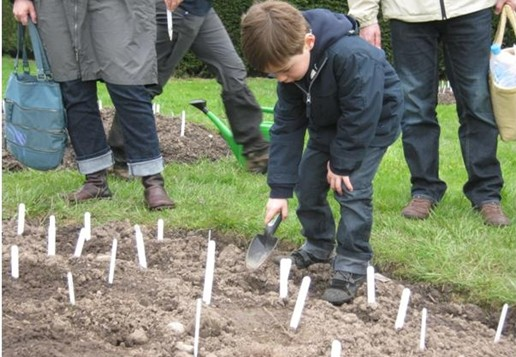 One of our youngest gardeners