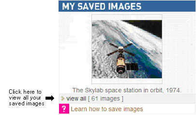 Fig 05: Viewing your saved images