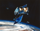 Gamma Ray Observatory (GRO) in orbit, 1991.