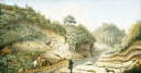picture number:10306366 Title:Road leading from Grotto of Pausilipo to Pianura, Kingdom of Naples, c 1767.
