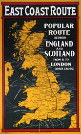 Image: Poster of the east coast route 1900-1910