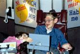 Image: Stephen Hawking, English theoretical physicist, 1990s
