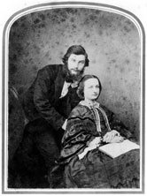 Image: Sir William Henry Perkin, English chemist, and his wife Jemima, c 1860.