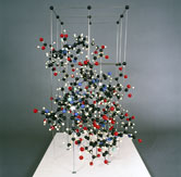 Image: Crystal structure model of Vitamin B12 made for the X-ray crystallographer Dorothy Crowfoot Hodgkin in 1958