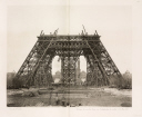 Assembly of the horizontal girders, Eiffel Tower, Paris, 26 March 1888.