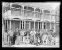 'The Builders 'Harcourt Runnacles & Co.' In Front Of The Bungalow', about 1897