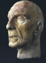 Plaster cast head of Peter Cushing, about 1955