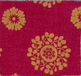 Image: Fabric sample dyed with synthetic alizarin made by Perkin in 1869