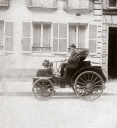 C S Rolls with his converted 8 hp Panhard wagonette motor car, 1898.