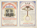 Gas cooking range and gas lights by Benham & Sons, c late 19th century.