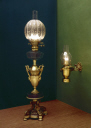 Two paraffin lamps, c 1860-1910.