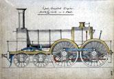 Image: Waverley Class 4-4-0 broad gauge locomotive from Daniel Goochs' Sketchbook