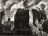 Image: Engraving of a fire which burnt over 50 houses in Amsterdam, Holland, 27 July 1679