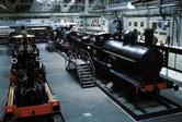 Image: railway locomotives in the Museum of British Transport, Clapham, in 1966