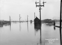 Floods at Temple Mills, 1919