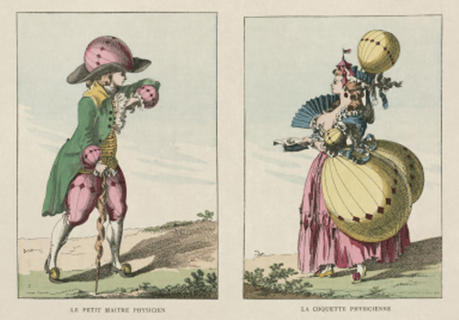 Balloon-inspired costumes, late 18th century.