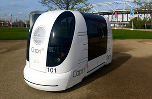Driverless car at the Olympic Park