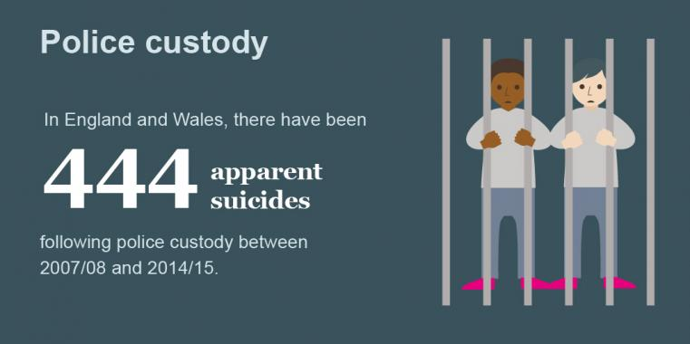 graphic portraying suicide rates in prison