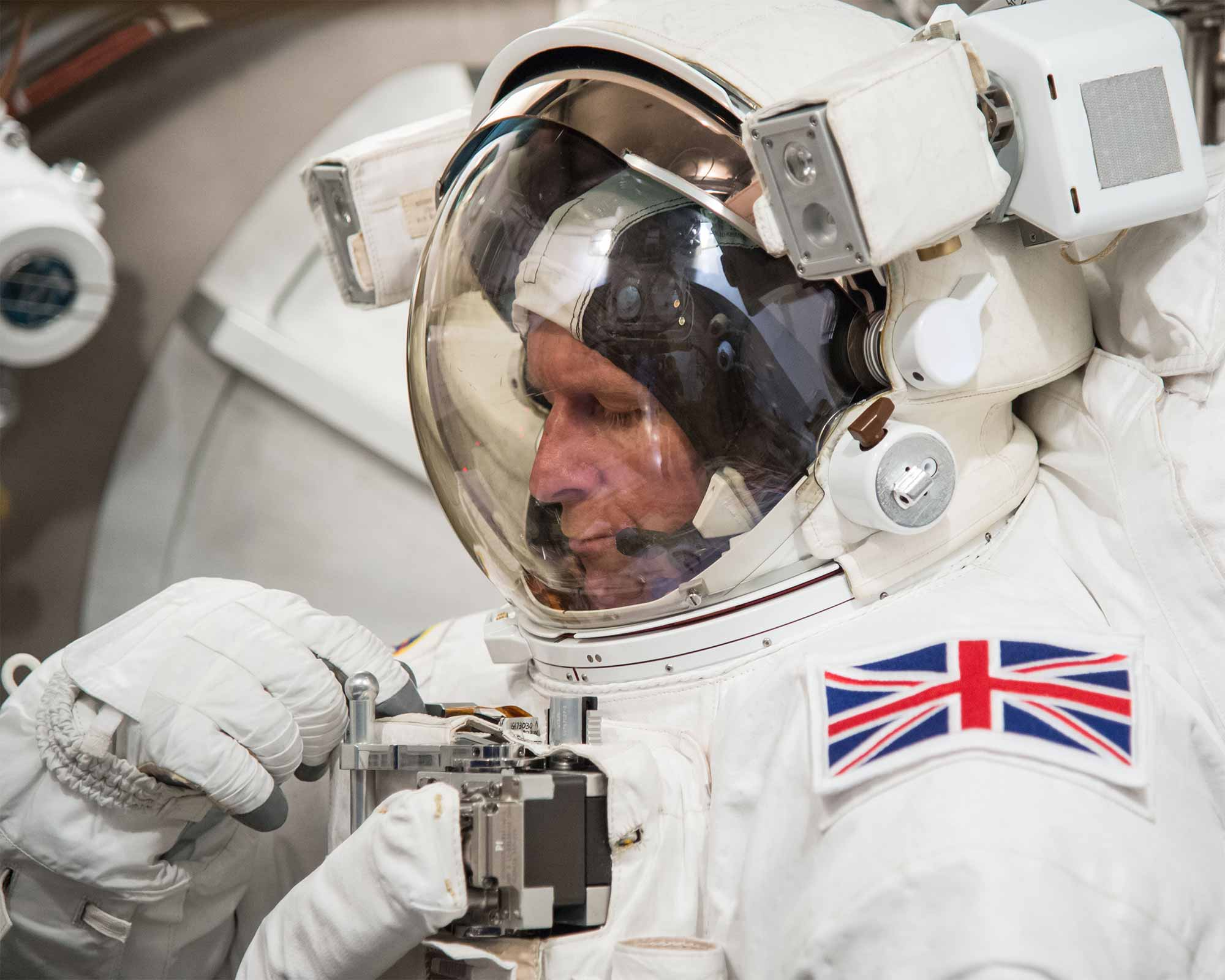Tim Peake in space suit