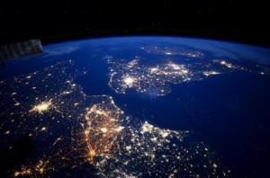 France and Britain at night credit: NASA/ESA