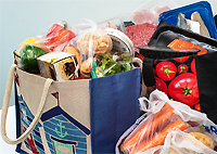 shopping bags for life to separate raw and cooked foods