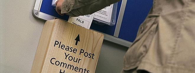 Posting a complaint comment