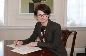 Minister for the Constitution signs the order