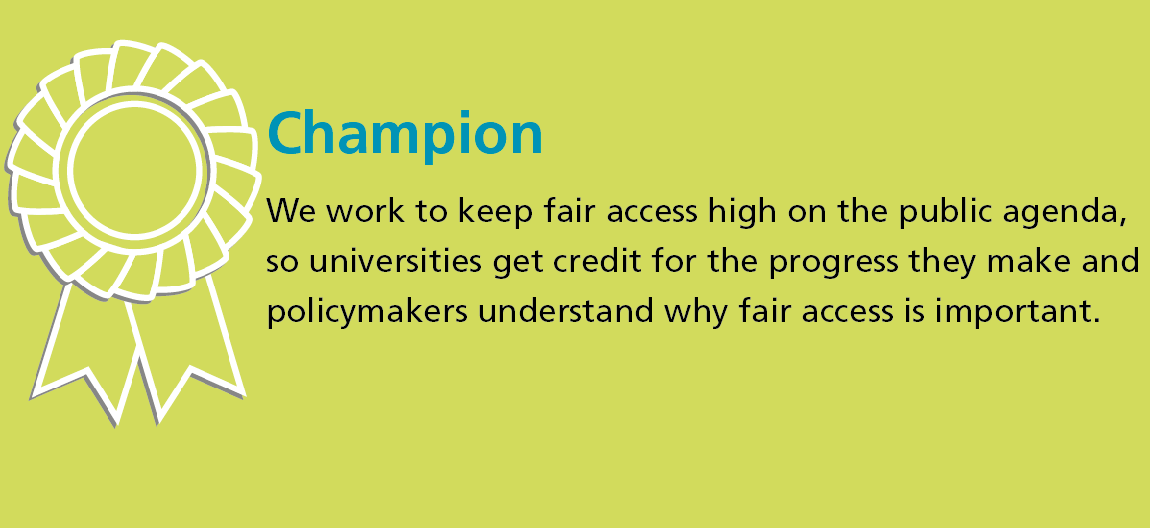 Infographic explaining OFFA's role in championing good practice